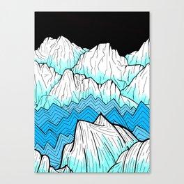 Antarctica mountains Canvas Print