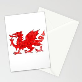 Welsh Dragon With Grunge Stationery Cards