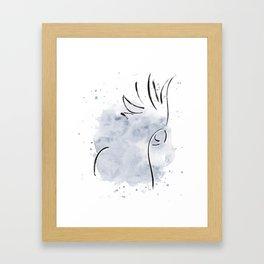 Cockatoo Abstract Brush - Grey Framed Art Print