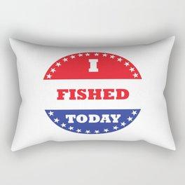 I Fished Today Rectangular Pillow