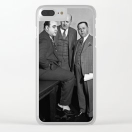 Al Capone in a Chicago Federal Building courtroom, April 4, 1931 - © Doc Braham; All Rights Reserved Clear iPhone Case