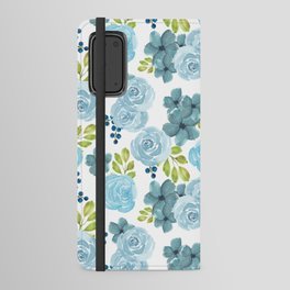 Blue Roses Android Wallet Case