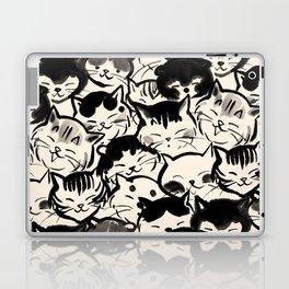 Happy Cats Faces Laptop & iPad Skin