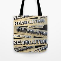 revolution Tote Bags featuring Revolution by politics
