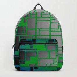 Teal Green Art Deco Pattern Backpack