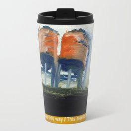 NYC Water Towers Painted on subway fare card Travel Mug