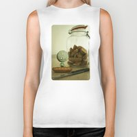 tim shumate Biker Tanks featuring Brie Boy - Tim Burton by PaperTigress