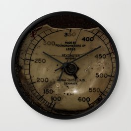 Red Revometer Wall Clock
