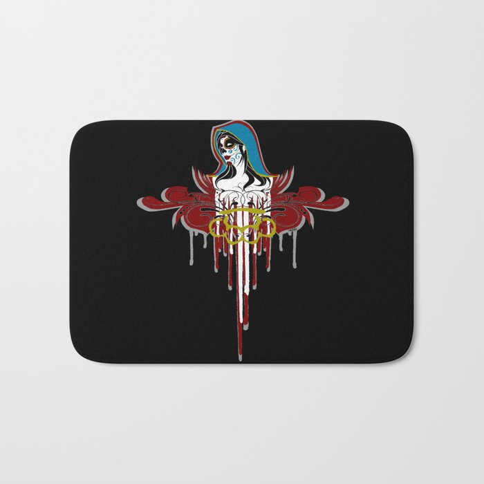 Day of the Dead Saint Bath Mat