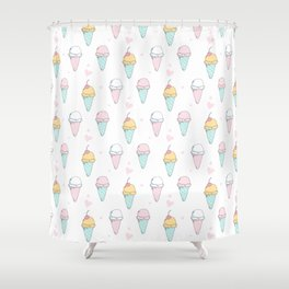 Cutest Ice cream Pattern Illustration ever Shower Curtain