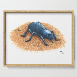 Blue Death Feigning Beetle Serving Tray