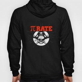 Funny Pi Pie Pirate Pierate Pi-Rate Math Joke Pun Hoody
