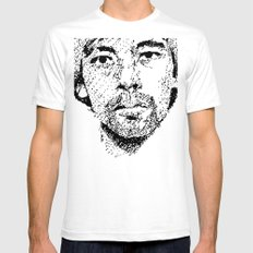 Pixel Portrait : Onra SMALL White Mens Fitted Tee