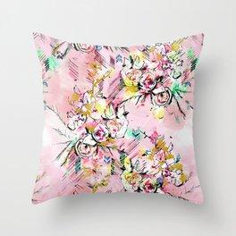 FLORAL ARROW Throw Pillow