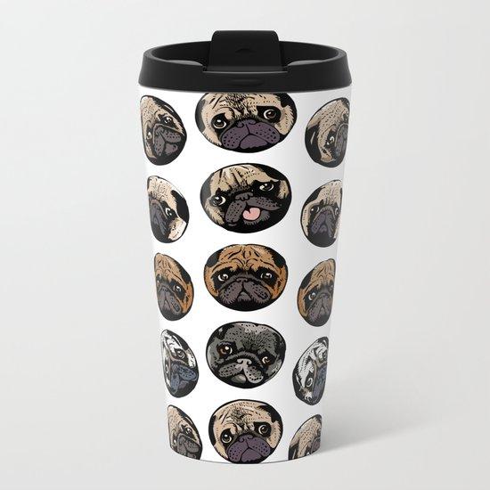 Pugka Dot Metal Travel Mug