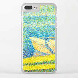 Georges Seurat Moored Boats and Trees Clear iPhone Case