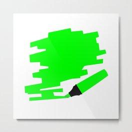 Green Marker Copy Space Metal Print