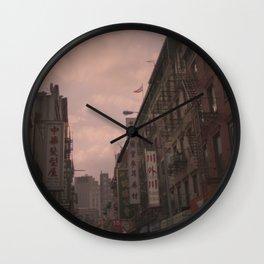 Chinatown, New York on Kodak Portra 400 Wall Clock
