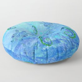 Sea Turtle Batik Floor Pillow