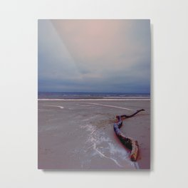 Logging by the sea Metal Print