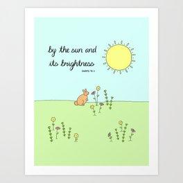 By the Sun - Childrens Islamic Quran Nursery Art for Kids Art Print