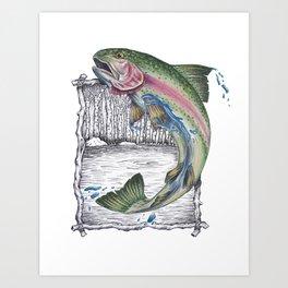 Trout Fishing in the Sierra Nevada's Art Print