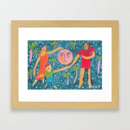 Full moon party Framed Art Print