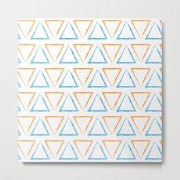 Peaks - Orange & Blue #332 Metal Print