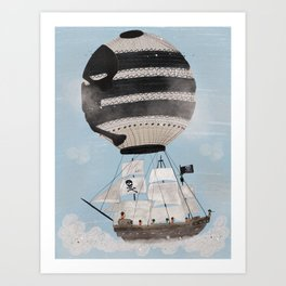 sky pirates Art Print