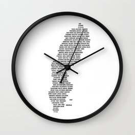 Cities in Sweden - white Wall Clock