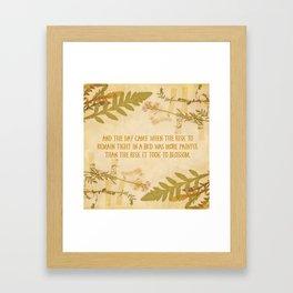 Autumn Anais Nin Quote Framed Art Print