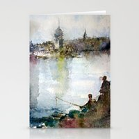 fishing Stationery Cards featuring Fishing by Baris erdem