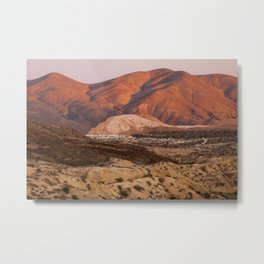 The Pinkest Sunset (Red Rock State Park, California) Metal Print