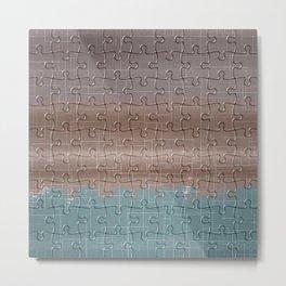 Jig-saw Puzzle Neutral Palette Design Metal Print