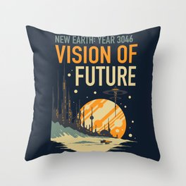 Vision of Future Throw Pillow