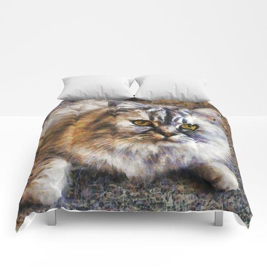 Brown Cat Comforters