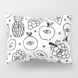 Paranoid fruit Pillow Sham