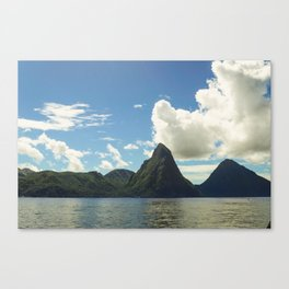 Majestic St. Lucia Pitons Canvas Print