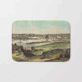 Aerial View of St. Paul, Minnesota (1874) Bath Mat