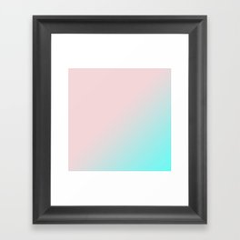 Simply Pink & Teal Color Gradient - Mix And Match With Simplicity of Life Framed Art Print