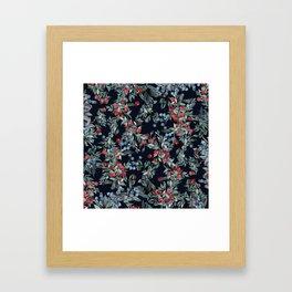 Festive Christmas Berries Pattern Framed Art Print