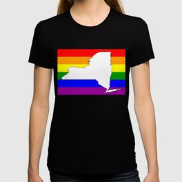 New York Gay Pride Rainbow Flag Shirt T-shirt