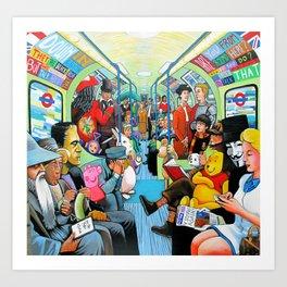 On the tube Art Print