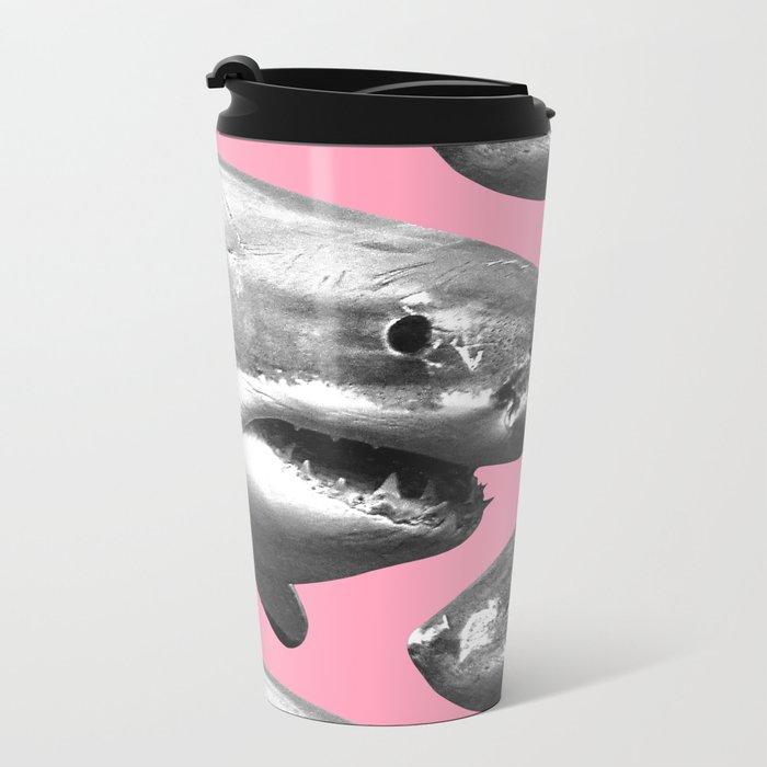Shark pattern Metal Travel Mug