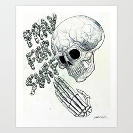 Pray For Surf 2 Art Print