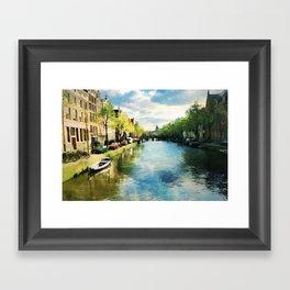 Amsterdam Waterways Framed Art Print