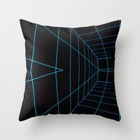 tron Throw Pillows featuring Tron Lines by Kookyphotography