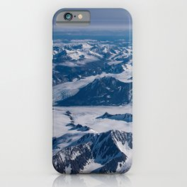 Aerial Glacier Four - Alaska iPhone Case