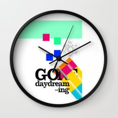 Gone Daydreamin'—art print/Metatron/sacred geometry/funnypretty Wall Clock