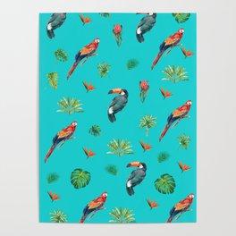 Tropical Birds Print Poster